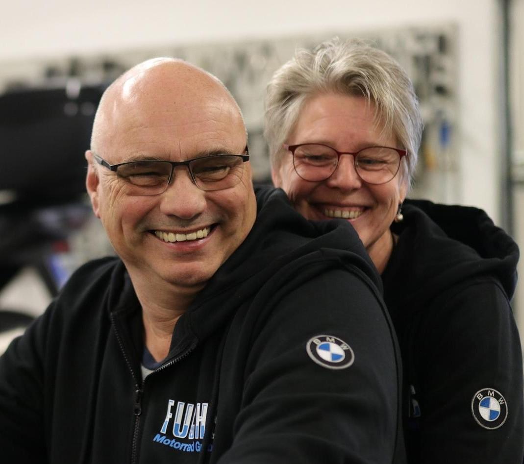 Andrea und Christian Raapke von BMW Motorrad Fuchs